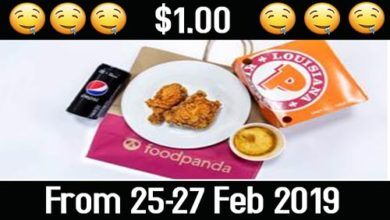 Photo of A $1 dollar POPEYES promotion on Food Panda from 25-27 Feb 2019